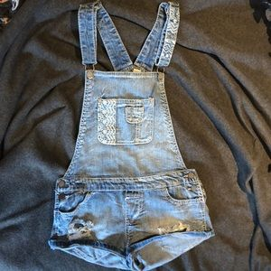 Mudd Overalls - light wash (size medium)